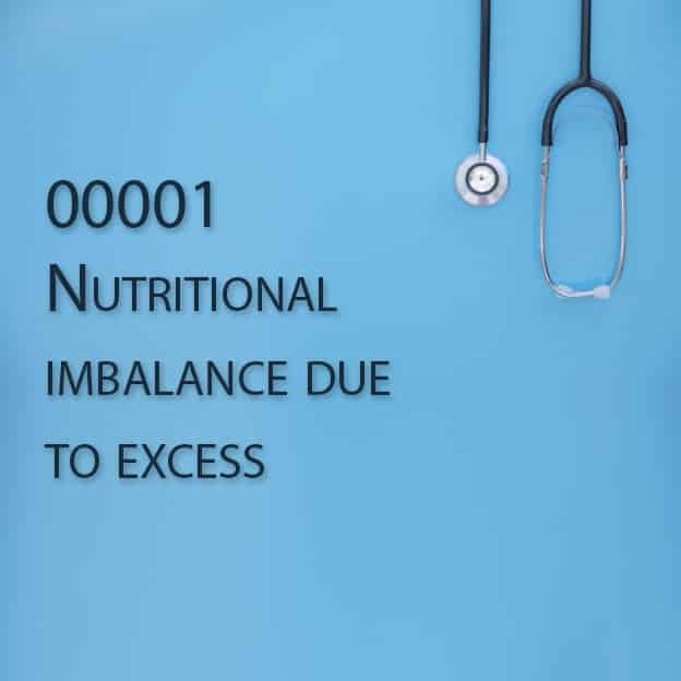 00001 Nutritional imbalance due to excess