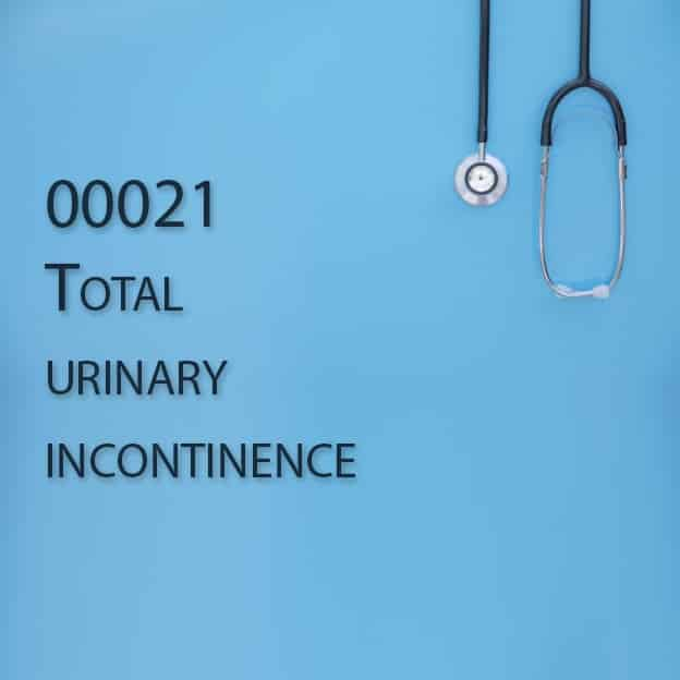 00021 Total urinary incontinence