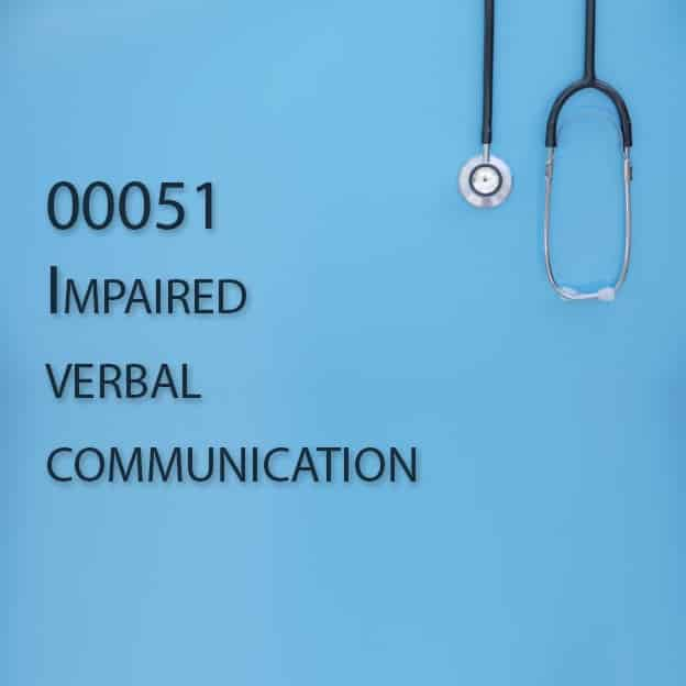00051 Impaired verbal communication