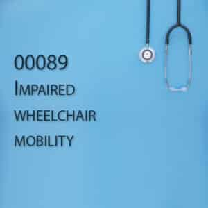 00089 Impaired wheelchair mobility