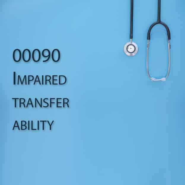 00090 Impaired transfer ability