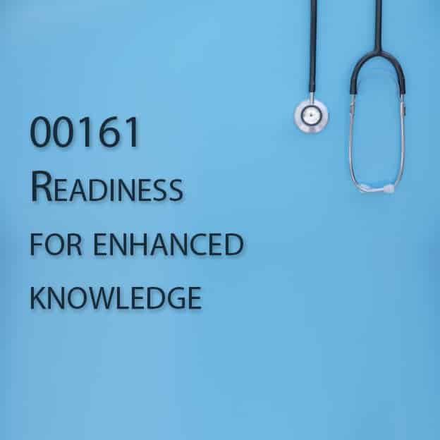00161 Readiness for enhanced knowledge