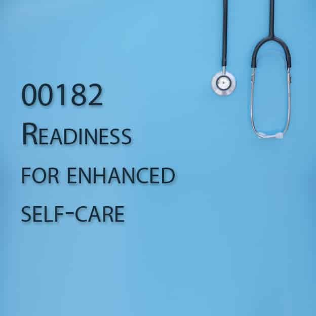 00182 Readiness for enhanced self-care