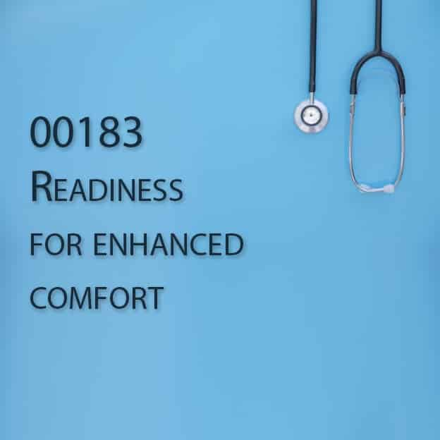 00183 Readiness for enhanced comfort